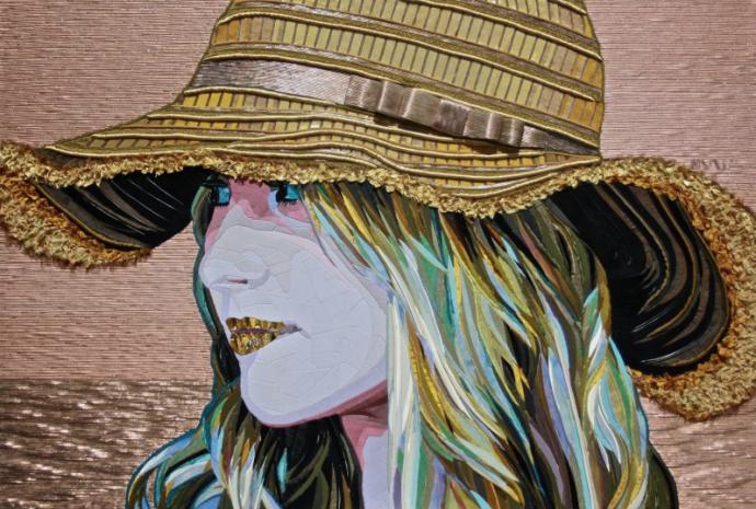 """Golden Hat"" (110 CM X 165 CM)"