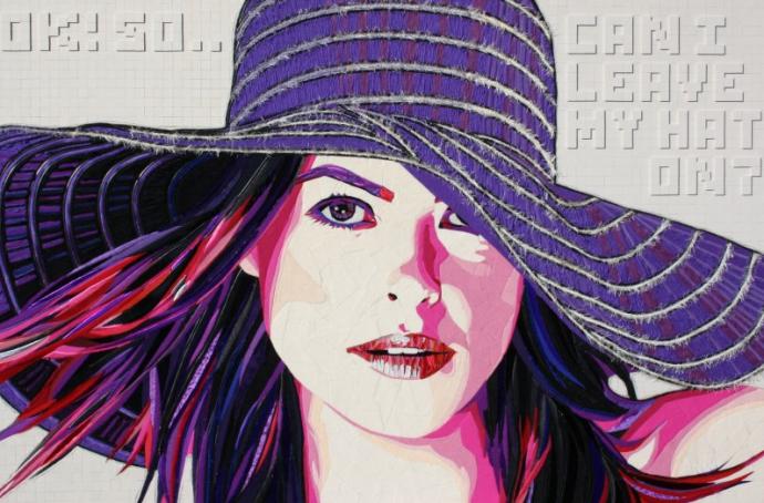 """Purple Hat"" (110 CM X 165 CM)"