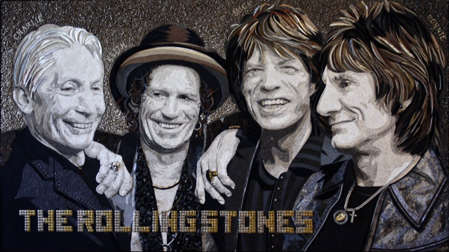 """The Rolling Stones"" (91 CM X 161 CM)"