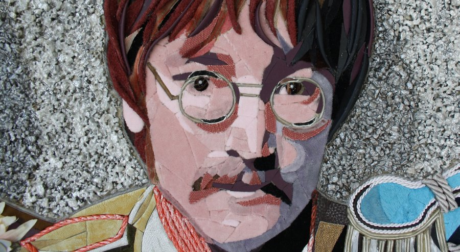 """Detail """"THE BEATLES"""" 2."""